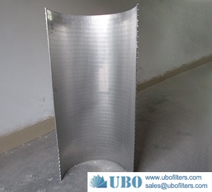 SS vee wire welded sieve bend screen